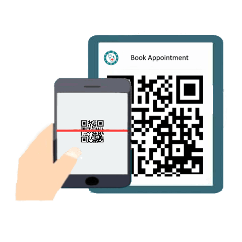 Scan QR Code and Book Appointment